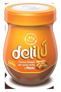 Delilú Crema untable de cacao, leche y Maní | Ecuador